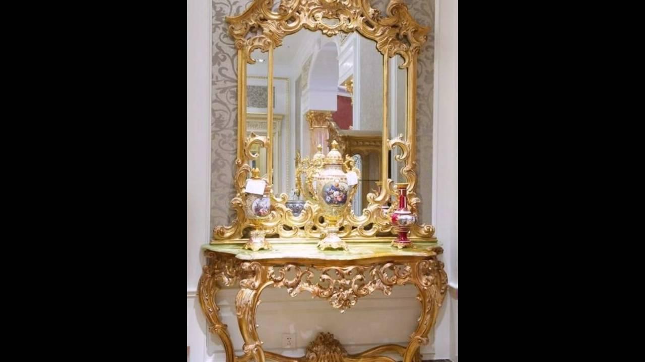 versace design m bel spiegel goldener rahmen barock tapete. Black Bedroom Furniture Sets. Home Design Ideas