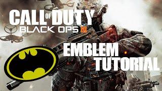Call Of Duty BO3   Emblem Tutorial #1 - Retro Batman (Really Easy)