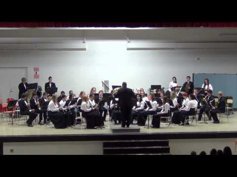 Menominee High School Band - May 6, 2013 - On The Wings of Swallows