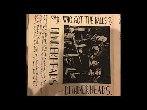 Dunderheads - Who Got The Balls Tape 1983 Hardcore Punk Denmark
