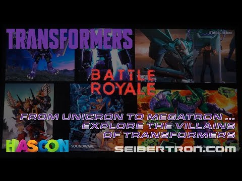 HASCON 2017: From Unicron to Megatron ... Explore the Transformers Villains