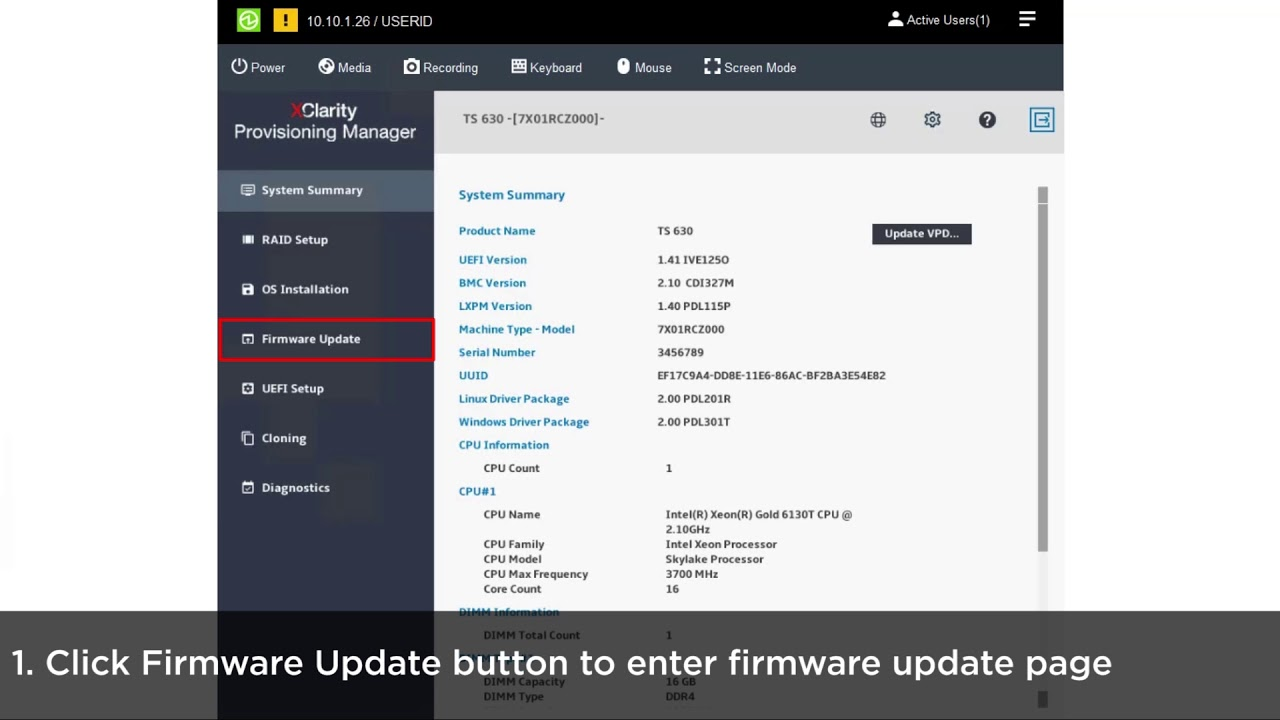 How to update firmware and drivers using the Lenovo XClarity