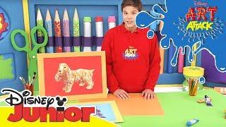 Art Attack Bastelclip #22 - Hunde zeichnen | Disney Junior