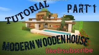 Minecraft Tutorial part 1: how to build a small modern wooden  house