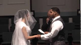 J&J VIDEO PRODUCTIONS-CLEVELAND OHIO, 440-845-2122 ,GROOM SERENADES BRIDE AFTER VOWS