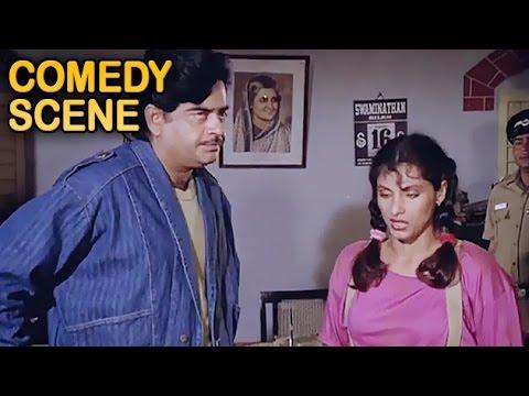 Dimple Kapadia & Shatrughan Sinha Funny | Comedy Scene | Ganga Tere Desh Mein | Dharmendra | HD