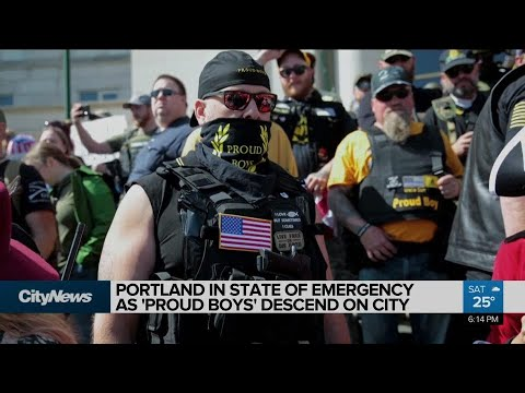 Portland In State Of Emergency As 'Proud Boys' Descend On City