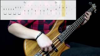 Lazy Town - We Are Number One (Bass Cover) (Play Along Tabs In Video)