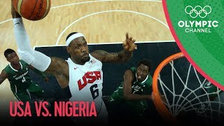 USA v Nigeria - USA Break Olympic Points Record - Men's Basketball Group A | London 2012 Olympics(Check out the brandnew Olympic Channel: http://go.olympic.org/watch?p=yt&id=f6a3B499nwY Full highlights from USA's game against Nigeria in the Men's ..., 2012-08-03T06:15:03.000Z)