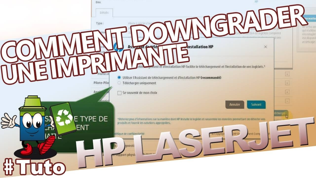 comment downgrader une imprimante hp laserjet youtube. Black Bedroom Furniture Sets. Home Design Ideas