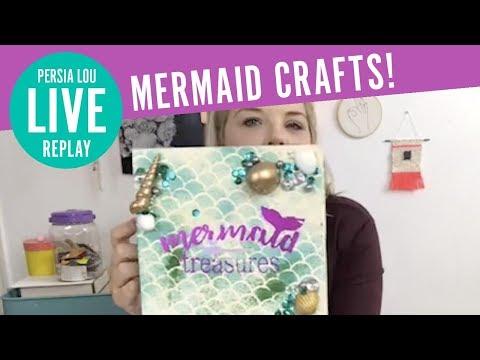 Mermaid Crafts Live! - Stenciled Mermaid Leggings, Mermaid At Heart Dress, And Mermaid Treasures Box