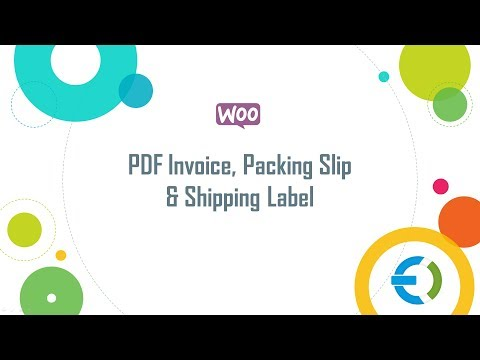 WooCommerce PDF Invoice, Packing Slip  Shipping Label - YouTube - packing slips for shipping