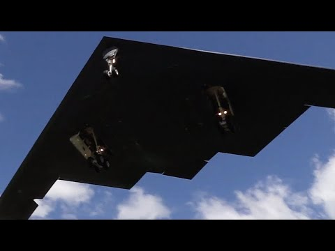 Two B-2 Spirit Stealth Bombers arrive at RAF Fairford - 8th June 2014