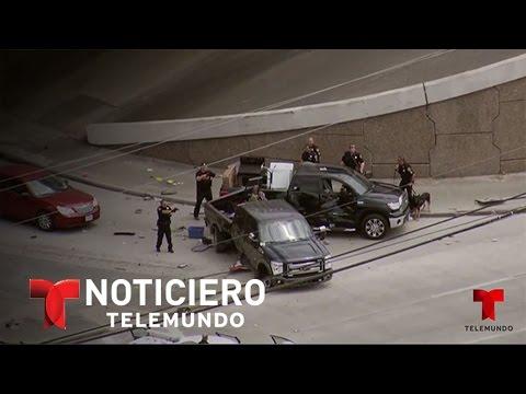 Vibrante persecución en Houston, Texas | Noticiero | Noticias Telemundo