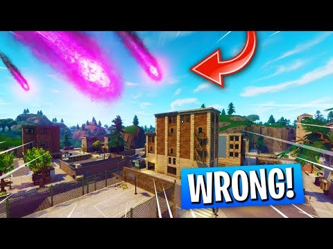 We Were WRONG About The TILTED TOWERS METEOR In Fortnite! (Scary Meteor Noise In The Sky)