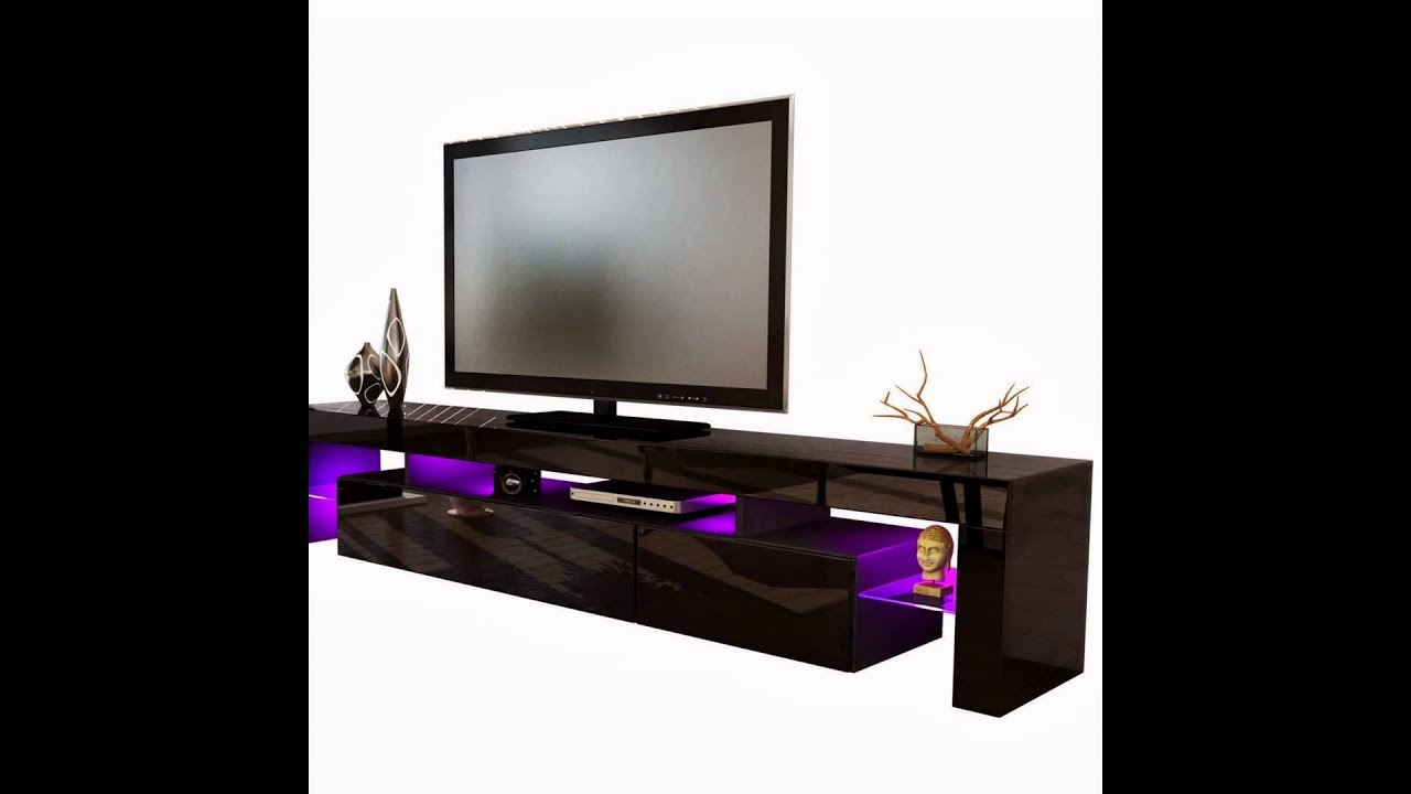 tv board lowboard lima v2 in schwarz schwarz hochglanz. Black Bedroom Furniture Sets. Home Design Ideas