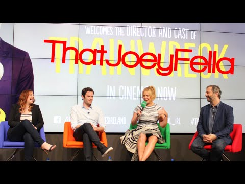 Trainwreck Q&A with Amy Schumer, Judd Apatow, Bill Hader & Vanessa Bayer