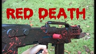 nerf mod destiny s red death replica blood splattered pulse rifle