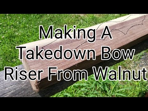 DIY Takedown Bow Riser Made From Walnut
