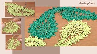 Crochet Bruges Lace Pattern Урок 6 часть 2 из 2  Брюггские кружева крючком