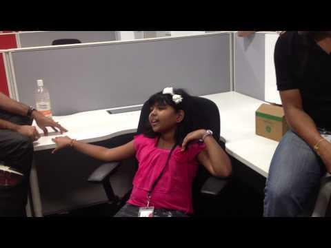 Indian Idol Winner Anjana sings for Digital Insight