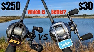CHEAP Wish App Reel vs EXPENSIVE Lew's Fishing Reel CHALLENGE (Which is Better?)