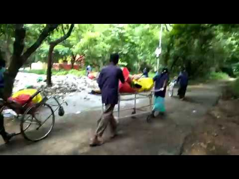 Andhra Pradesh govt hospital uses patients' wheelchairs to transport medical waste