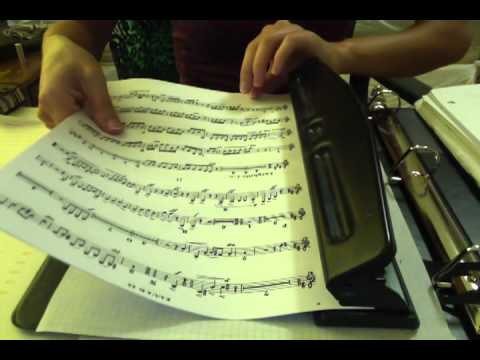 Organizing Sheet Music- paper sounds, softly spoken