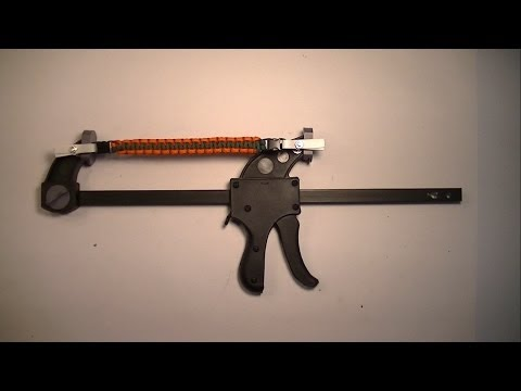How to make a Paracord Jig Using 12 in. Ratchet Bar Clamp/Spreader
