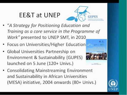 CEDD Webinar #11: UNEP's Global Universities Partnership on Environment and Sustainability