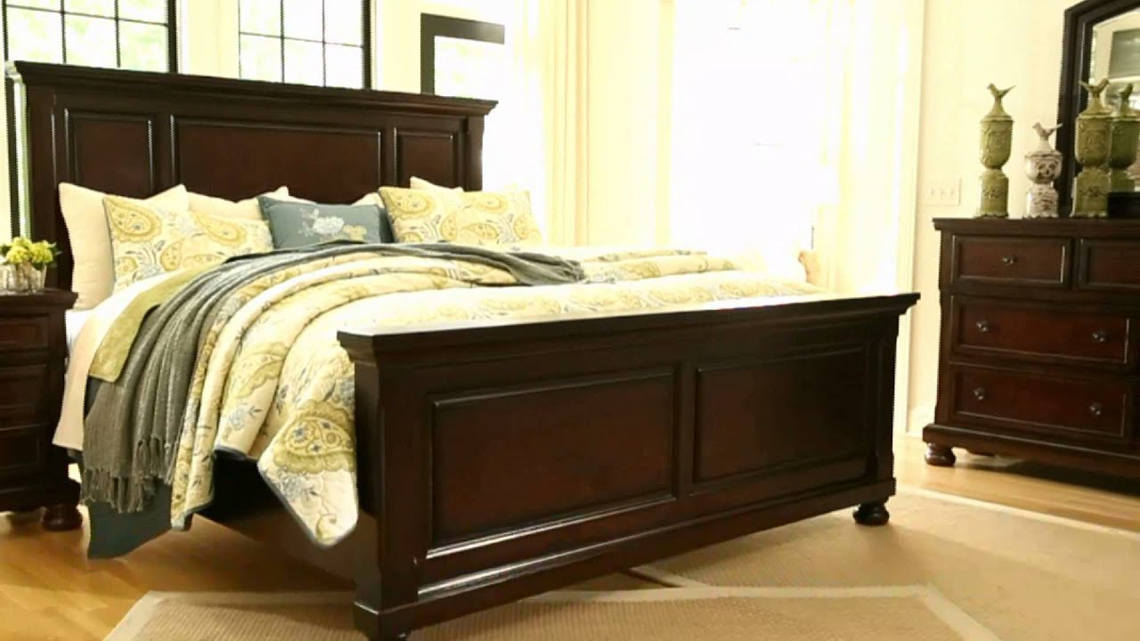 King Bedroom Sets Ashley Furniture ashley furniture homestore - porter panel bed - youtube