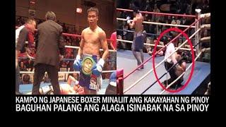 KAMPO NG JAPANESE BOXER MINALIIT ANG KAKAYAHAN NG PINOY! baguhan palang binang-ga na ang Pinoy