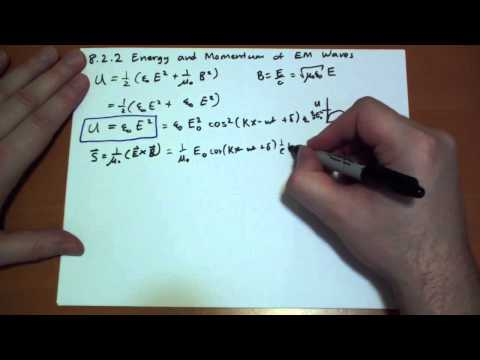 8.2.2 Energy and Momentum of Electromagnetic Waves