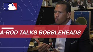 A-Rod plays name association with MLB bobbleheads