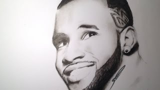 Jason Derulo Charcoal Speed Drawing