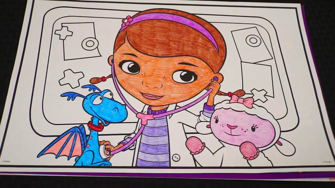 Disney coloring pages crayola - Coloring Doc Mcstuffins Friends Disney Giant Coloring Book Page Crayola Crayons Kimmi The Clown