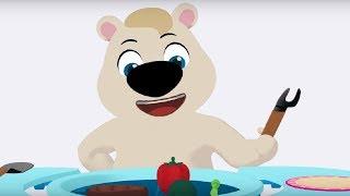 Английский язык для малышей - Мяу-Мяу - Вкусняшки (Snacks) - учим английские слова
