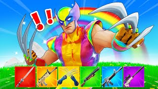 The *RAINBOW* WOLVERINE Challenge in Fortnite!