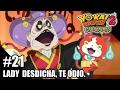 ¡Lady Desdicha, te odio! Jibanyan se apodera del canal | #21 | Yo-kai Watch 2 Carnánimas EN ESPAÑOL