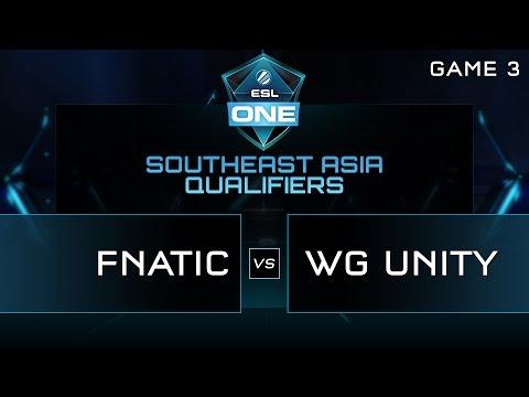 Fnatic vs WG Unity - ESL One Manila SEA Qualifier - Game 3