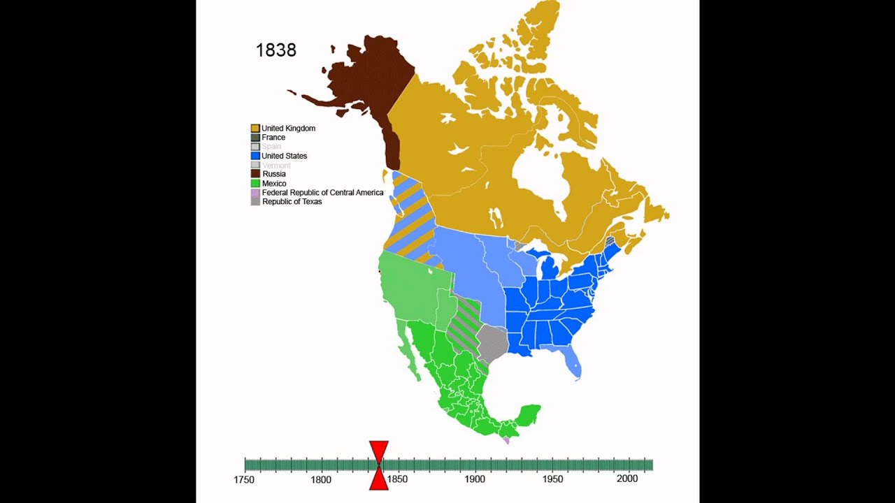 Animated History of North America YouTube
