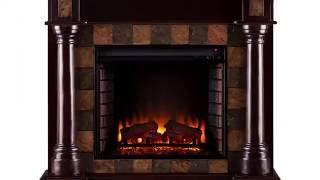 FE8748: Carrington Corner Electric Fireplace - Classic Espresso