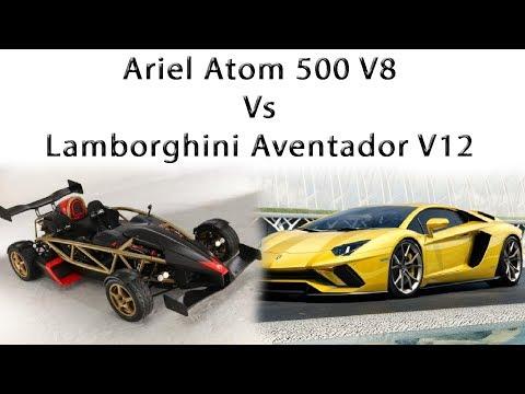 Ariel Atom 500 V8 Vs Lamborghini Aventador V12