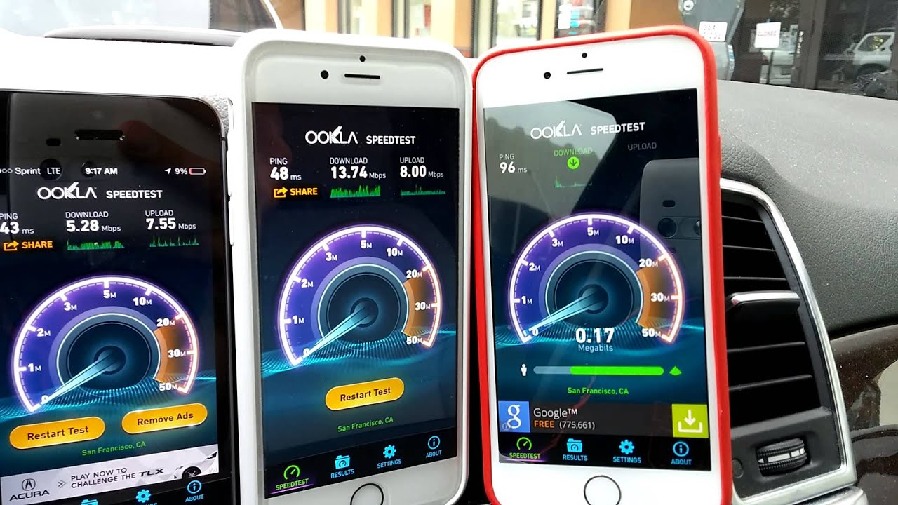 speed test iphone iphone 6 speed test at amp t sprint t mobile verizon 13018