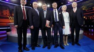 Wer wird Präsident? Die Elefantenrunde: alle KandidatenIn