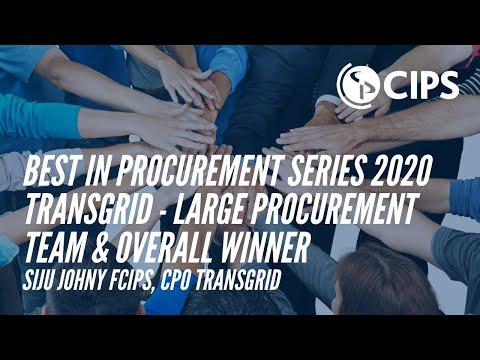 Best in Procurement Series 2020 | TRANSGRID - Large Procurement Team & Overall Winner