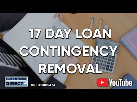 17 Day Loan Contingency Removal