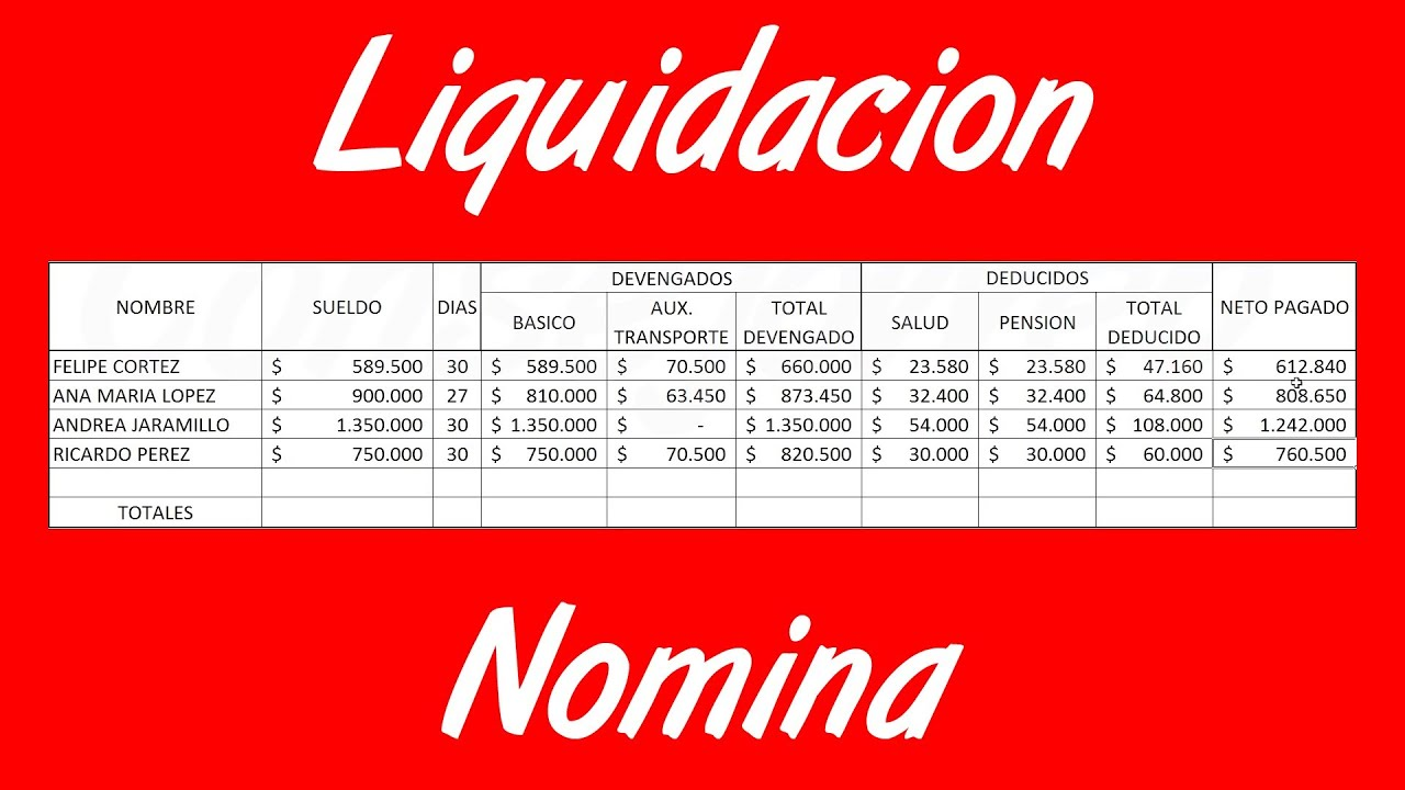 Como liquidar nomina en excel youtube for Modelo de nomina en excel