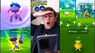 CATCHING * GENESECT * + NEW SHINY POKÉMON! WHAT A DAY OMG (Pokémon GO)