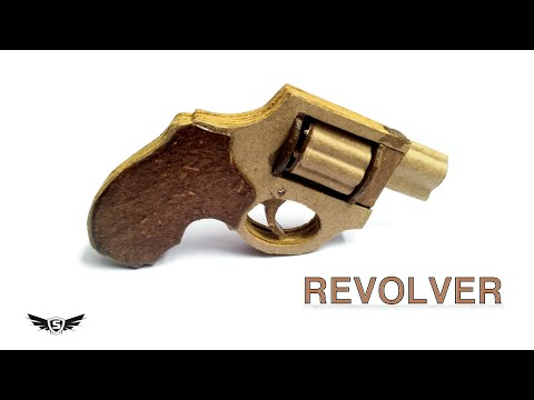 how to make a DIY cardboard gun revolver that shoots